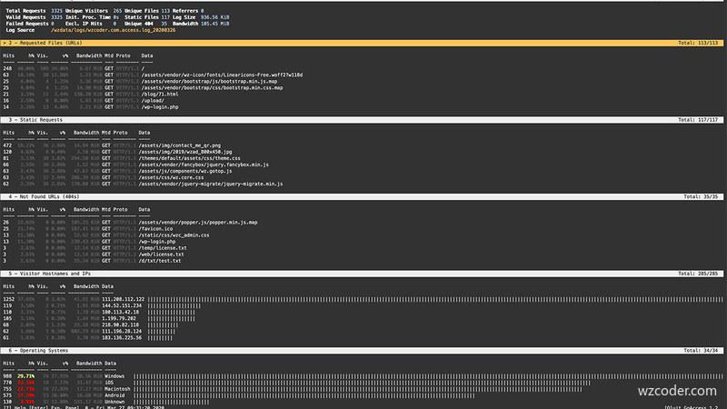 如何进行快速的日志分析并处理网站问题