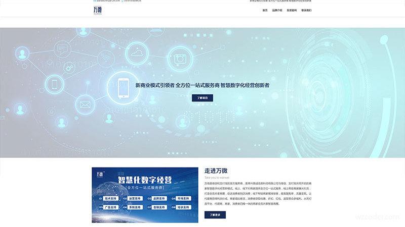 营销类企业网站风格